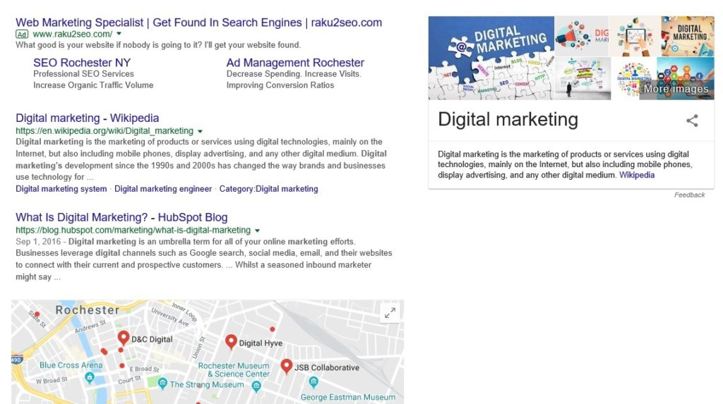 Google's ads are more dynamic than ever. Site links providing useful info.